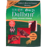 2 Pack Seasons Dulhan Hair/Hands Henna Mehandi Powder - 100 Gm