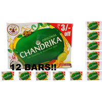 Chandrika Original Handmade Soap (12 Bars) - 125 Gm Each