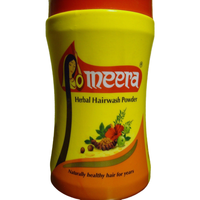 2 Pack Meera Herbal Hair Wash Powder Shikakai Hibiscus Tulsi Reetha - 100 Gm