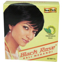 Black Rose Kali Black Mehandi Henna Herbal Based Hair Dye Powder - 50 Gm