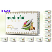 12 Bars! Medimix 125Gm Ayurvedic Turmeric  Argan Oil Soap Usa Seller Fa...