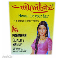(12 Boxes) Mumtaz Henna Hair Color Powder - 100 Gm Each