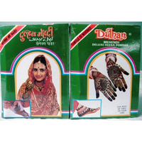 Dulhan Deluxe Henna Mehndi Tattoo Powder (12 Boxes) - 100 Gm Each