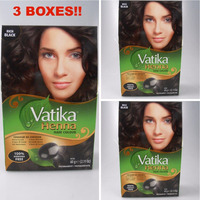 Dabur Rich Black Henna Hair Color Powder (3 Pack)