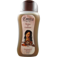 Emita Hair Care Shampoo + Conditioner W/Cocoa Butter Almond - 400 ml