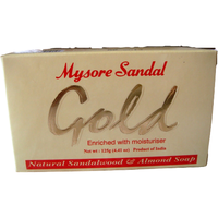 (6 Bars) Mysore Gold Sandalwood Almond Soap Aroma Therapy - 125 Gm Each