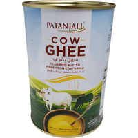 Patanjali Cow's Ghee 2 lb Clarified Butter Desi Cow's Ghee 1 Liter Export Pack