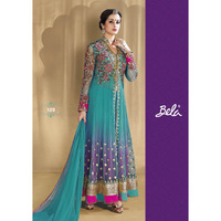 Teal Net Kameez And  ...