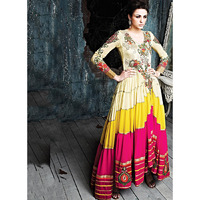 First Class Multi Color Georgette Anarkali Suits