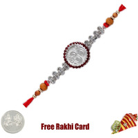 Silver Om Rakhi with ...