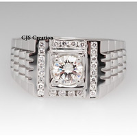 Mens Ring 1.50 Ct Br ...