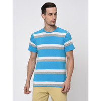 Rigo Multi Striped Tshirt-Half For Men (Size: S)