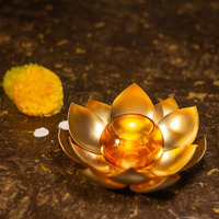 Handcrafted Lotus T-Light Candle Holder