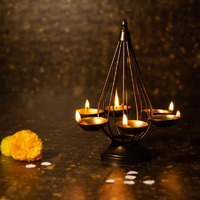 Chic Decorative Diwali Floor Diya Stand