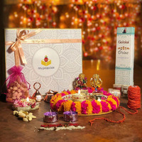 Vivid Colorful Diwali Pooja Box