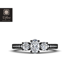 3 Stone Diamond Wedd ...