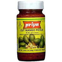 Priya Cut Mango Pickle With Garlic - 300 Gm