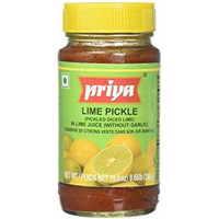 Priya Lime Pickle No Garlic - 300 Gm
