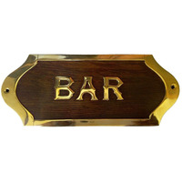 Wooden -Brass Bar Si ...