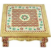Golden Ethnic Meenakari Work Heavy Square Bajot