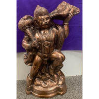 Artistic Black Metal Statue of Hanumanji with Pahad in one Hand