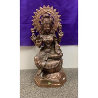 Artistic Black Metal Statue of Goddess Laxmi Mata