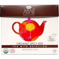 Amar Organic Spicy Zest Mountain Chai (Pack of 12)