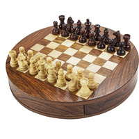 9 Inch Round Magnetic Chess Set