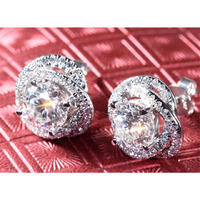 2Ct Round Cut Moissa ...