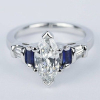 Blue Sapphire off Wh ...