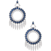 Dianna Jewels Charms Of The Night Earrings Synthetic Sapphire