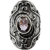High Work Quality ! Amethyst 925 Sterling Silver Ring