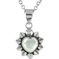 925 Sterling Silver Jewelry !! Breath Of Love Mother Of Pearl Gemstone Silver Jewelry Pendant