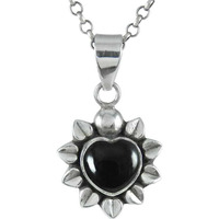 925 Sterling Silver Jewelry !! Easeful Black Onyx Gemstone Silver Jewelry Pendant