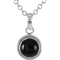 925 Sterling Silver Jewelry !! Melodious Black Onyx Gemstone Silver Jewelry Pendant