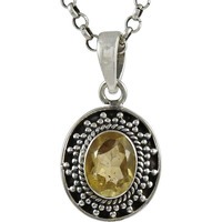 New Fashion ! 925 Sterling Silver Citrine Pendant