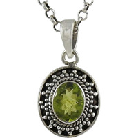 All Us! 925 Sterling Silver Peridot Pendant