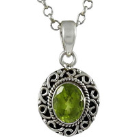 Before Time! 925 Sterling Silver Peridot Pendant