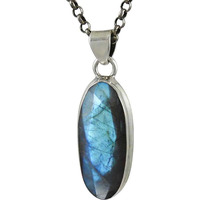 2016 Fashion ! Labradorite Gemstone Silver Pendant Jewelry