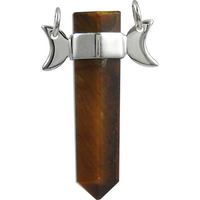 Pale Beauty ! Tiger Eye Gemstone Silver Jewelry Pencil Pendant