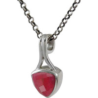 Exquisite ! Ruby Gemstone Silver Jewelry Pendant