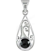 925 Sterling Silver Jewelry !! Sizzling Black Onyx Gemstone Silver Jewelry Pendant