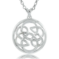 So In Love  Filigree Sterling Silver Jewelry Pendant