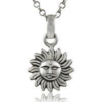 SUN! Solid 925 Sterling Silver Pendant