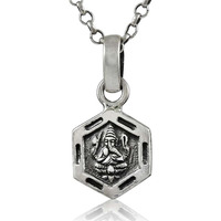 Antique Look!! 925 Sterling Silver Ganpati Pendant