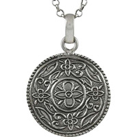 Circle Hope Solid 925 Sterling Silver Pendant
