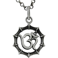 Favorite !  Sterling Silver Jewelry OM Pendant