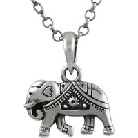 Falling In Love !  Sterling Silver Jewelry Elephant Charm Pendant