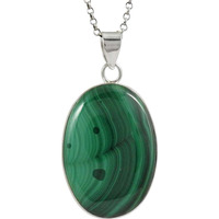 Hot 925 Silver Malachite Pendant