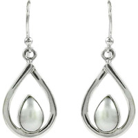 Great!! Pearl 925 Sterling Silver Earrings